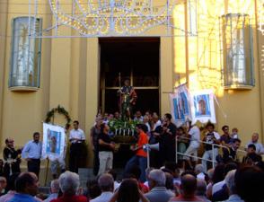 Festeggiamenti in onore di San Rocco - Processione per il paese