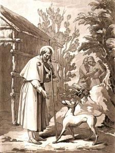 San Rocco confessore - Incisione del 1841